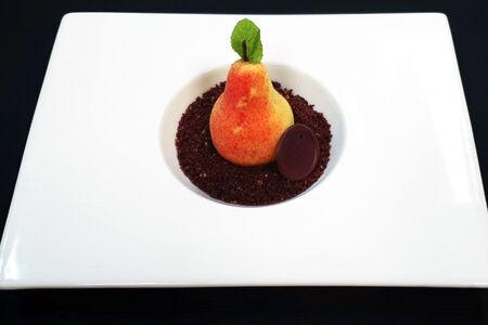 Груша Куантро с соленой карамелью в оболочке из бельгийского шоколада