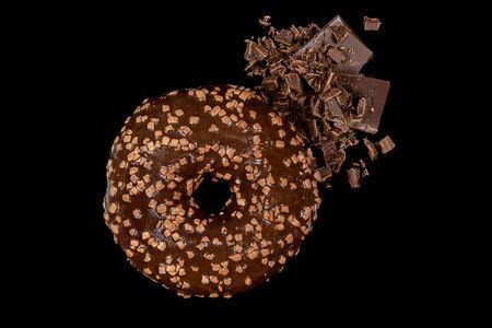 Пончик шоколадный