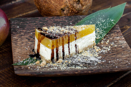 Домашний манговый чизкейк