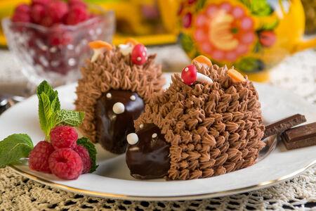 Десерт Ежик в лесу