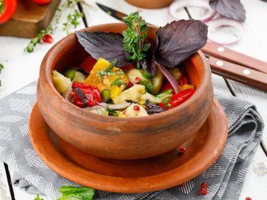 Овощной салат на углях