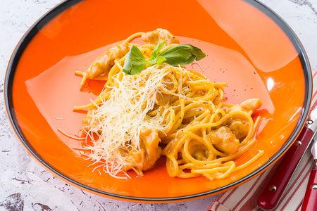 Спагетти Карбонара с цыпленком