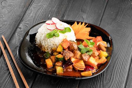 Ком Бо с белым рисом