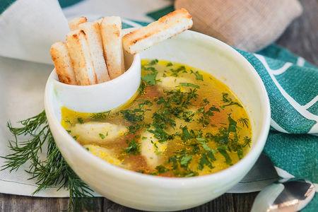 Суп с кнели из индейкой