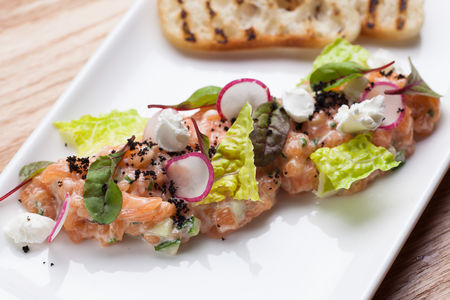 Тартар из лосося