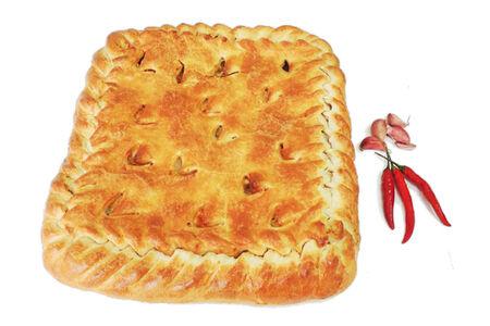 Пирог с мясом на слоеном тесте