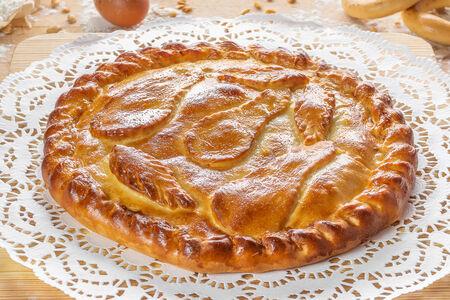 Пирог Пряная груша с медом