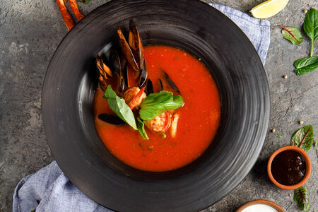 Суп Томатный с морепродуктами