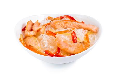 Вок Фунчоза с лососем