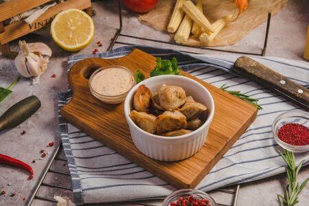 Жареные узбекские пельмешки с бараниной