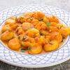 Фото к позиции меню Картофельные ньокки в тыквенном соусе