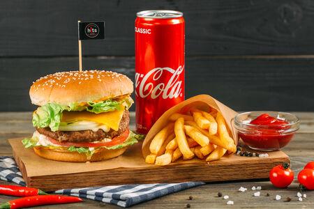 Комбо Хитбургер классический с телятиной
