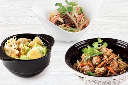 Ланч Салат, Основное блюдо и Суп