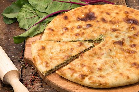 Осетинский пирог с листьями свеклы Цахараджын