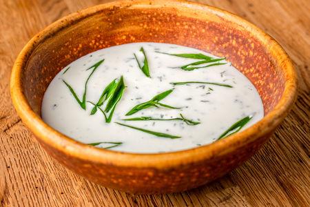 Холодный суп из мацони