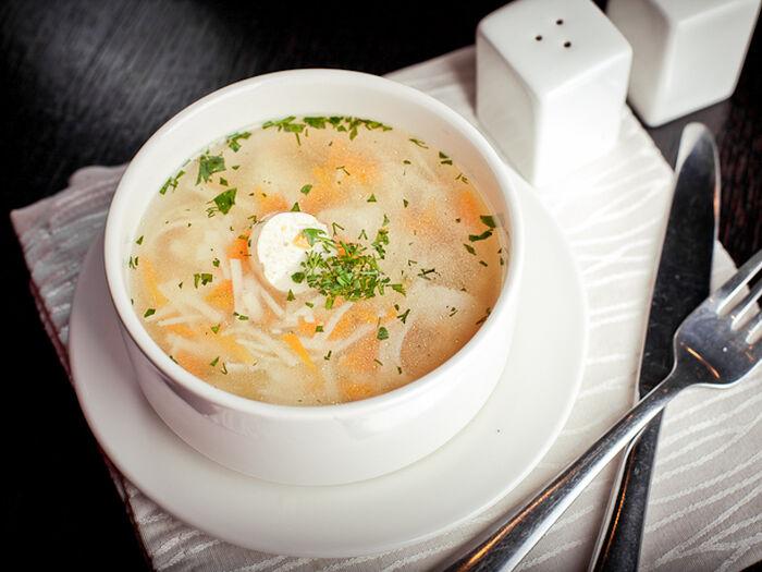 Суп Куриный с домашней лапшой и фрикадельками