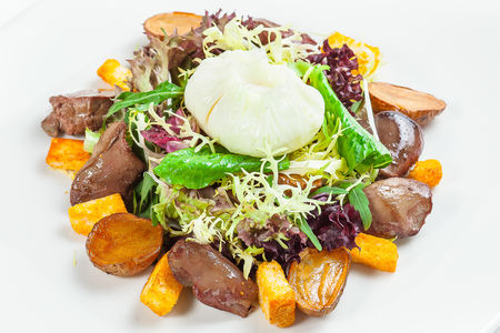 Салат с печенью индейки