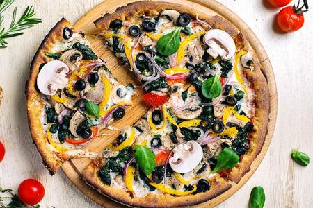 Пицца Овощная с грибами