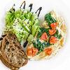 Фото к позиции меню Омлет с помидорами черри и шпинатом