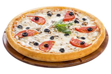 Пицца Двойная с ветчиной и грибами