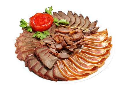 Мясное ассорти с соевым соусом