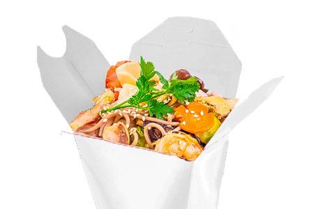 Морской микс в устричном соусе