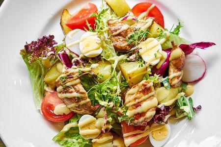 Микс-салат с перепелкой