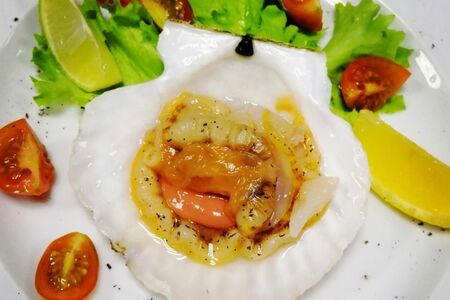 Гребешок из аквариума сашими
