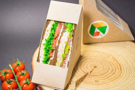 Нордический сэндвич с лососем