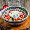 Фото к позиции меню Овощной салат со сливочным сыром