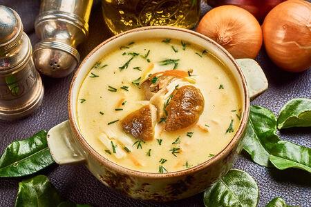 Суп из белых грибов с курицей