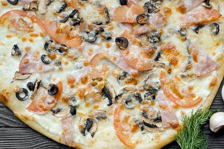 Пицца Бекон и грибы