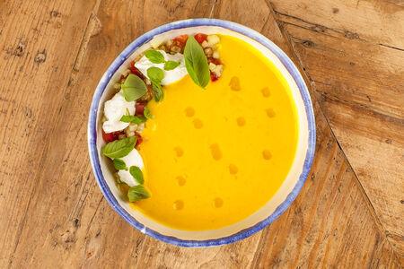 Суп Гаспачо из желтых томатов
