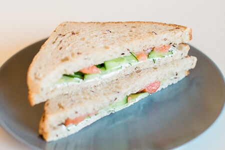 Сэндвич с сёмгой