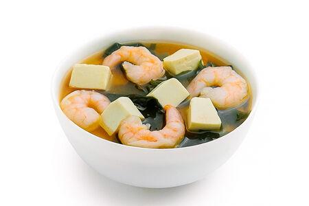 Суп Мисо с тигровыми креветками