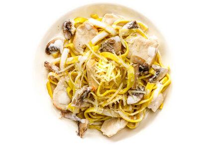 Паста Тальятелле с курицей и грибами
