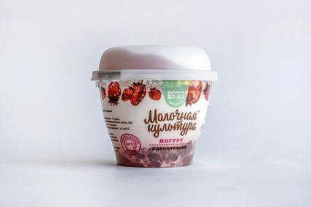 Йогурт Молочная Культура с земляникой