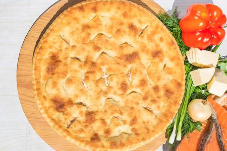 Осетинский пирог с сёмгой и сыром (1200 г)