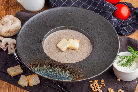 Грибной сливочный крем-суп
