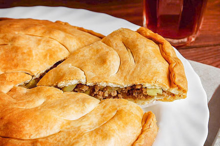 Пирог Мясной с картофелем