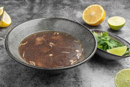 Суп Фо-бо с говядиной и ростками сои