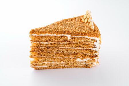 Кусочек торта Медовик