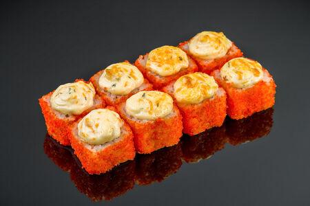 Ролл Запеченный сырный с креветкой
