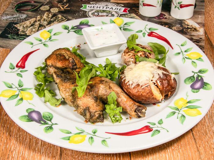 Запеченный цыпленок по-римски
