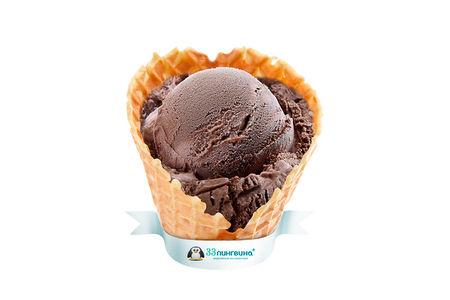 Шарик мороженого Тройной шоколад