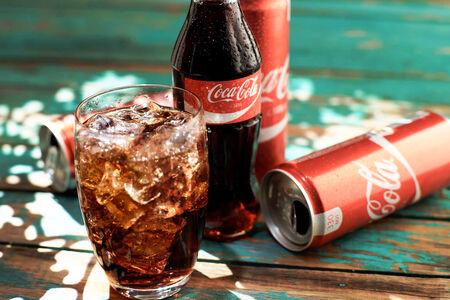 Coca-Cola в стеклянной бутылке