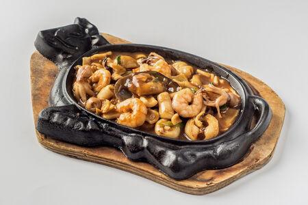 Морепродукты печеные