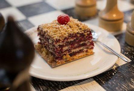 Клюквенный торт