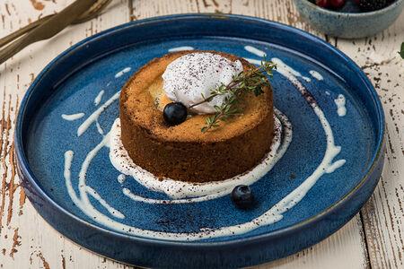 Черничный пирог с кокосовым сорбетом