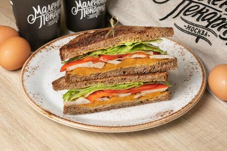 Сэндвич с тыквой и курицей
